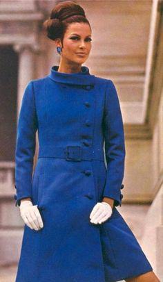 1960s  blue coat wool