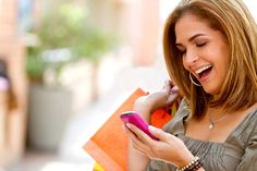 Shopping success via Smartphone. Products and Services are looked up online via Smartphone. replace the little technological miracle with his (Boyfriend's, Husband's) opinion. Mobile Advertising, Mobile Marketing, Email Marketing, Digital Marketing, Missing Your Ex, Animoto Video, Text Types, Salon Software, Boost Mobile