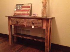 Beautiful Old Barn Wood Sofa Table