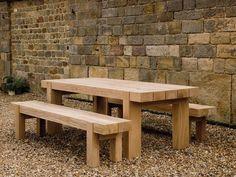 Outdoor Oak Beam Table #outdoorfurniture #indigofurniture #outdooroak