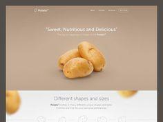 Potato landing page by Eldin