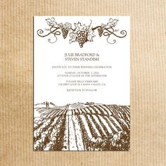 Rustic Wine and Champagne Bottles Winery Wedding Invitation Set ...