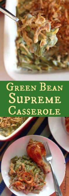 Green Bean Supreme Casserole Recipe  |  whatscookingamerica.net  |  #green #bean #casserole #thanksgiving