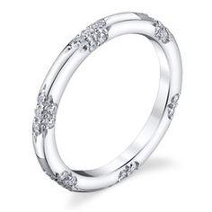 MICHAEL B Eternity Pave Set Platinum Womens Wedding bands MB1-40-160-01