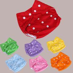 10 unids/lote Pañales Del Bebé Pañales Reutilizables Pañal de Tela Cubierta Del Pañal Lavable Ajustable Tamaño 7 Colores Colorido Estilo