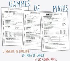 Les gammes de mathématiques CM1-CM2