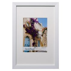Fotolijst Cubic Wit met passe-partout.