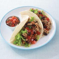 Turkey Black Bean Soft Tacos - Clean Eating Magazine