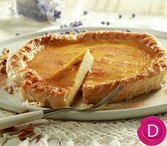 Μπακλαβογαλατόπιτα | Dina Nikolaou Greek Sweets, Greek Desserts, Greek Recipes, Sweet Pie, Sweet Tarts, Flan, Greek Cookbook, Yummy Treats, Delicious Desserts