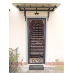 Wrought Iron Gate Door. Customize Realizations. 564 Wrought Iron, Gate, Garage Doors, Metal, Outdoor Decor, Home Decor, Houses, Decoration Home, Portal