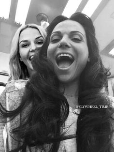 Awesome Lana and Jen having a laugh