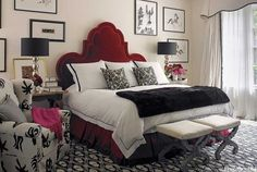 Similar to my Guest Room #1, except I have a Fabulous Henredon Headboard...Palette is same...I need to add MORE PATTERN!