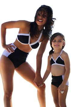 Swimming Sports & Entertainment 2pcs Parent-child Swimwear Leaf Print Bikini Set Sling Ruffle High Waist Split Type Swimsuit Beach Swimwear Summer Swimming
