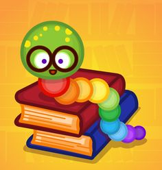 Bookworm! ^.^ Kawaii Illustration, Books To Read, Reading Books, Luigi, Yoshi, Book Worms, Cute Pictures, Kitty, Day