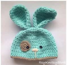 Crochet Bunny Hat ༺✿ƬⱤღ https://www.pinterest.com/teretegui/✿༻