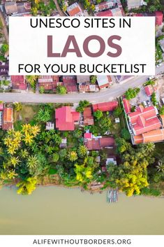 Amazing UNESCO World Heritage Sites in Laos, plus those on the current Tentative List. Includes the town of Luang Prabang, Vat Phou and the Plain of Jars #Laos | Laos Itinerary | Laos Travel | UNESCO | #luangprabang #vatphou #plainofjars Laos Travel, Luang Prabang, World Heritage Sites, Jars, Islands, Amazing, Pots, Jar, Vases
