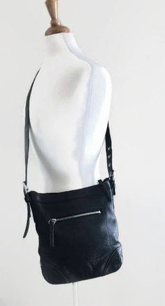 Black Genuine Coach Leather Crossbody by GenesisVintageShop on Etsy