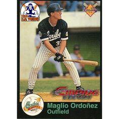 Maglio Ordoñez,jugador de Los Caribes de Oriente en la Liga Venezolana de Beisbol Profesional.