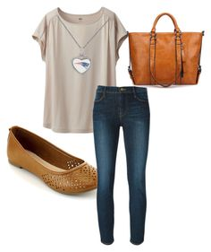 """Pat's Fan"" by momo-free on Polyvore featuring Uniqlo and Frame Denim"