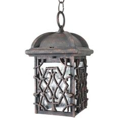 """Melissa Americana 1 Light Outdoor Hanging Lantern Finish: Old Copper, Size: 12"""" H x 6.75"""" W"""