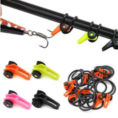 Sale 26% (4.99$) - ZANLURE 10pcs Hook Secure Keepers Holders Lures Jig Hooks for Fishing Rod 4 Colors