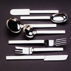 Art Deco silver flatware by Russel Wright, 1933