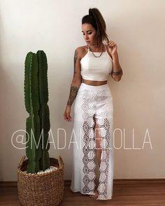 """893fca12c0 Loja Virtual - Madame Lolla❥ on Instagram  """"Mais uma novi linda pro  Réveillon  Cropped Sandrinha + short saia (sim Brasil é um short saia 😍)  Regina ..."""