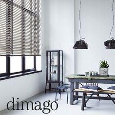 dimago® houten horizontale jaloezieën in 10 nieuwe kleuren: wit, grijs en taupe. #wonen