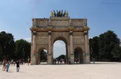 This side of the Arc de Triomphe du Carrousel you enjoy its great architecture and views which lead onto the Tuilleries Gardens.  See more Paris Photos at www.eutouring.com