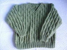 Receita de Tricô: Blusa infantil em tricô - 5 a 7 anos