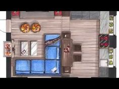 скетч план. draw a sketch plan living room markers - YouTube