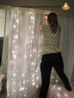 How to make a lighted backdrop for a wedding, party, special event, or craft fair. SO cute!