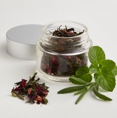 Huntington Herbal Tea - Rose, Lavender, and Spearmint This refreshing herbal tea combines rose petals, lavender, and spearmint. Presented in a  resealable pouch of loose tea for superior freshness.  Infusing guidelines: measure 1 tsp per 6 to 8 oz serving of water and place into your tea steeping basket, filter, or brewer. For ...