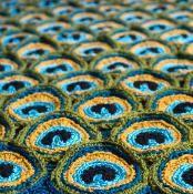 Peacock Pretty Blanket - via @Craftsy