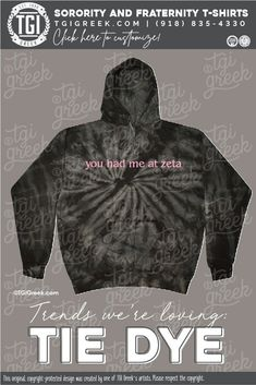 Zeta Tau Alpha shirts by TGI Greek! sorority apparel, sorority shirts, custom shirts, custom sorority shirts, custom fraternity apparel, custom tees, fraternity shirts, tie dye, you had me at zeta, zta #tgigreek