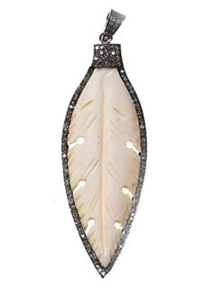 Carved Bone Feather Pendant — S. Carter Designs