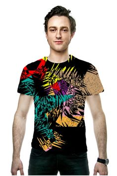 By Phyllis Braham, OArtTee specializes in creating amazing, vibrant and colorful Wearable Art - Bring some color into your life with this bright funky abstract design, a bold sport tee shirt.