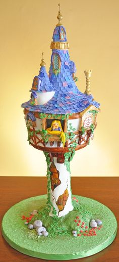 Tangled castle cake #disney