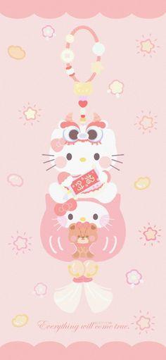 Sanrio Wallpaper, Hello Kitty Wallpaper, Kawaii Wallpaper, Sanrio Characters, Cute Characters, Hello Kitty Drawing, Cute Lockscreens, Animal Crossing Fan Art, Hello Kitty Images