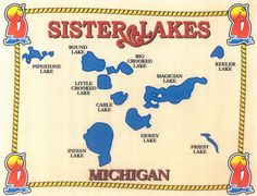 PICTURE OF SISTER LAKES MI | Michigan Sister Lakes Waterfront Homes Real Estate in Michigan ...