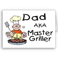 Dad Master Griller Greeting Card by CelebrationZazzle