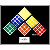Adesivo P/ Cubos Magicos 3x3 Dayan P/ Zanchi 55mm Chanfrado