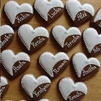 Heart Cookies, No Bake Cookies, Sugar Cookies, Wedding Cookies, Royal Icing Cookies, Polymer Clay Crafts, Pavlova, Bake Sale, Cookie Decorating