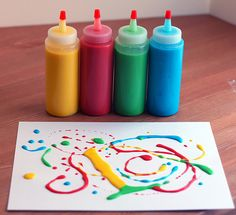 My kids got a kick out of this! This homemade doodle (puffy) paint is made from stuff in your pantry!