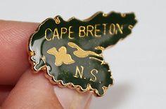 CAPE BRETON NOVA SCOTIA ENAMEL METAL PIN Souvenir Keepsake gift for mom