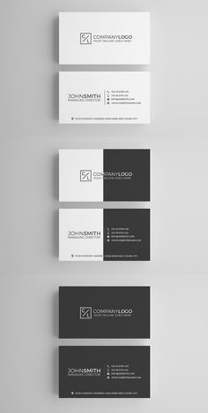 Minimal Business Card for personal and company use. Minimal Business Card Template Features - Light + Dark - Layered PSD Files - 300 DPI - Print Ready - x Black Business Card, Minimalist Business Cards, Modern Business Cards, Corporate Business, Logo Design, Web Design, Design Cars, Design Ideas, Branding Design