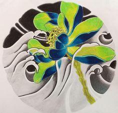Sailor Jerry Tattoo Flash, Carp Tattoo, Koi, Asian Tattoos, Oriental Tattoo, Japanese Flowers, Traditional Tattoo, Flower Tattoos, Colorful Flowers