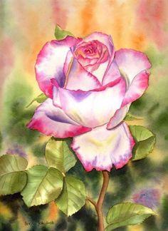 Акварельные розы / Живой лёд глобальных вопросов