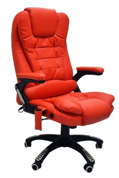 Luxury Leather Reclining Office Chair with 6-Point Massage - Study Computer 7