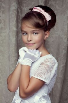First communion hairstyle ( hairstyles hairdo updo up do )